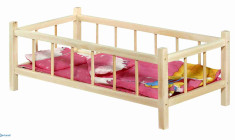 Big doll bed with bedding